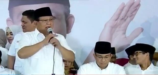 Prabowo Subianto Ucapkan Terima Kasih Pada Tokoh 212