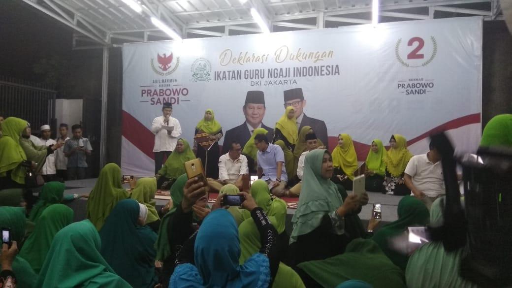 Deklarasi Guru Ngaji Dukung Prabowo-Sandi
